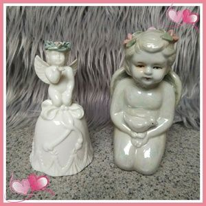 Other - Two beautiful fired glazed angels